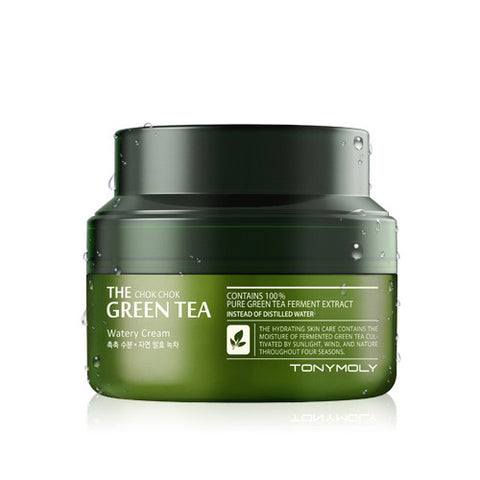 [Tonymoly] The Chok Chok Green Tea Watery Cream - Cosmetic Love