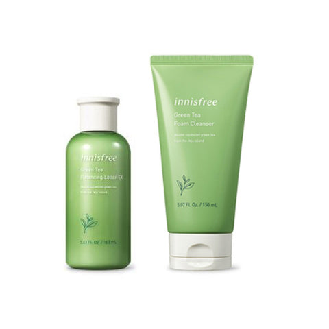 [SET] [Innisfree] Green Tea Foam Cleanser 150ml+Green Tea Balnacing Lotion EX 160ml