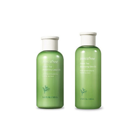 [SET] [Innisfree] Green Tea Balnacing Lotion 160ml+Green Tea Balnacing Skin 200ml