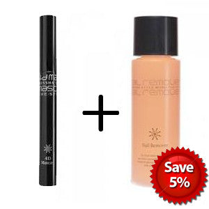 [SET][Missha] The Style 4D Mascara & [Missha] The Style Nail Remover 100ml # Cool - Cosmetic Love