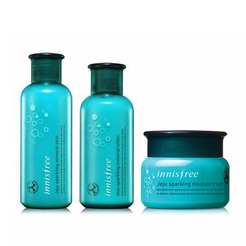 [SET][Innisfree] Jeju Sparkling Mineral Skin 200ml + Lotion 160ml + Jeju Sparkling Moisture Cream 50ml