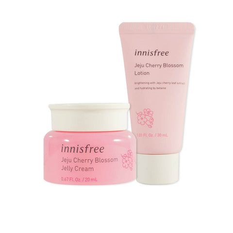 [SET][Sample][Innisfree] Jeju Cherry Blossom Lotion 30ml + Jelly Cream 20ml