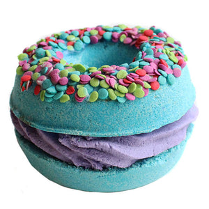 Blueberry Muffin Donut Sandwich Bath Bomb - New York's Bathhouse