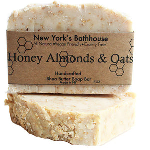 Honey Almonds & Oats Cold Process Soap Bar - New York's Bathhouse