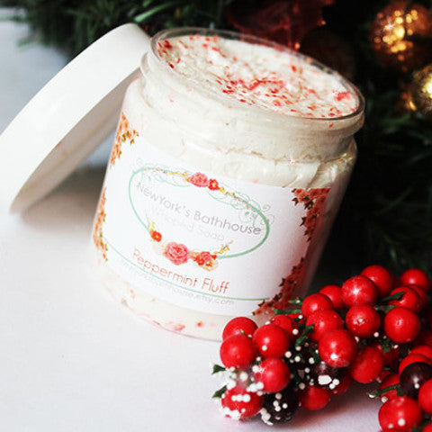 Limited Edition Peppermint Fluff Whipped Soap - New York's Bathhouse
