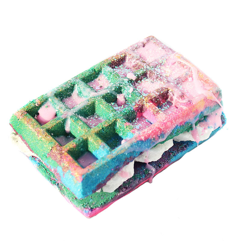 Original Recipe Waffle Sandwich Bath Bomb+ Bubble Bar - New York's Bathhouse