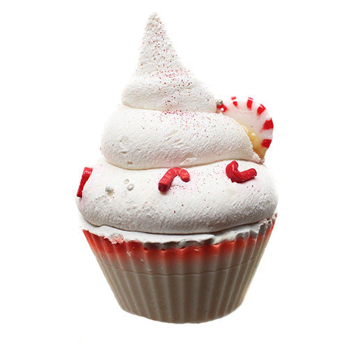 Limited Edition Seasonal Candy Cane Cupcake Soap - New York's Bathhouse