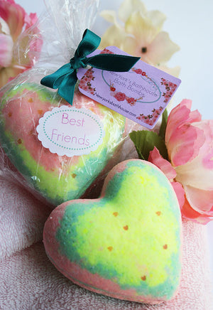 Best Friends Heart Bath Bomb - New York's Bathhouse