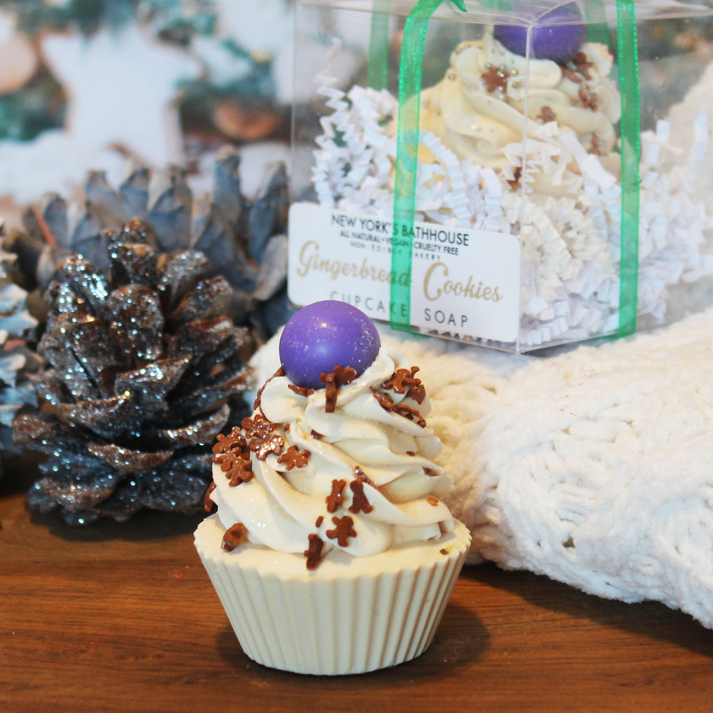 Limited Edition Seasonal Gingerbread Cupcake Soap