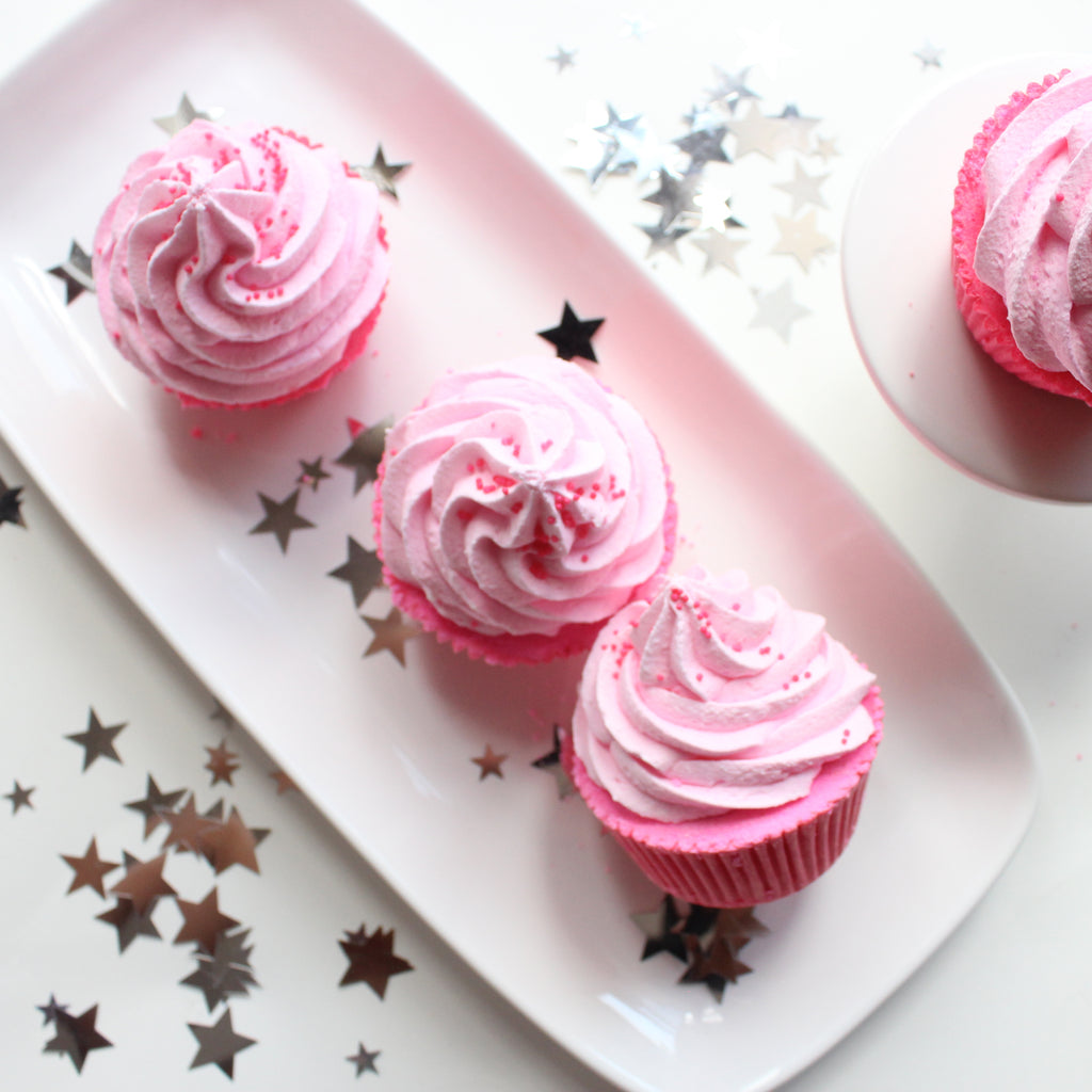 Pink Sugar Cupcake Bath Bomb - New York's Bathhouse