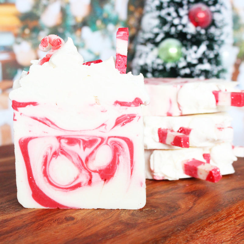Limited Edition Seasonal Candy Cane Christmas Soap Bar - New York's Bathhouse