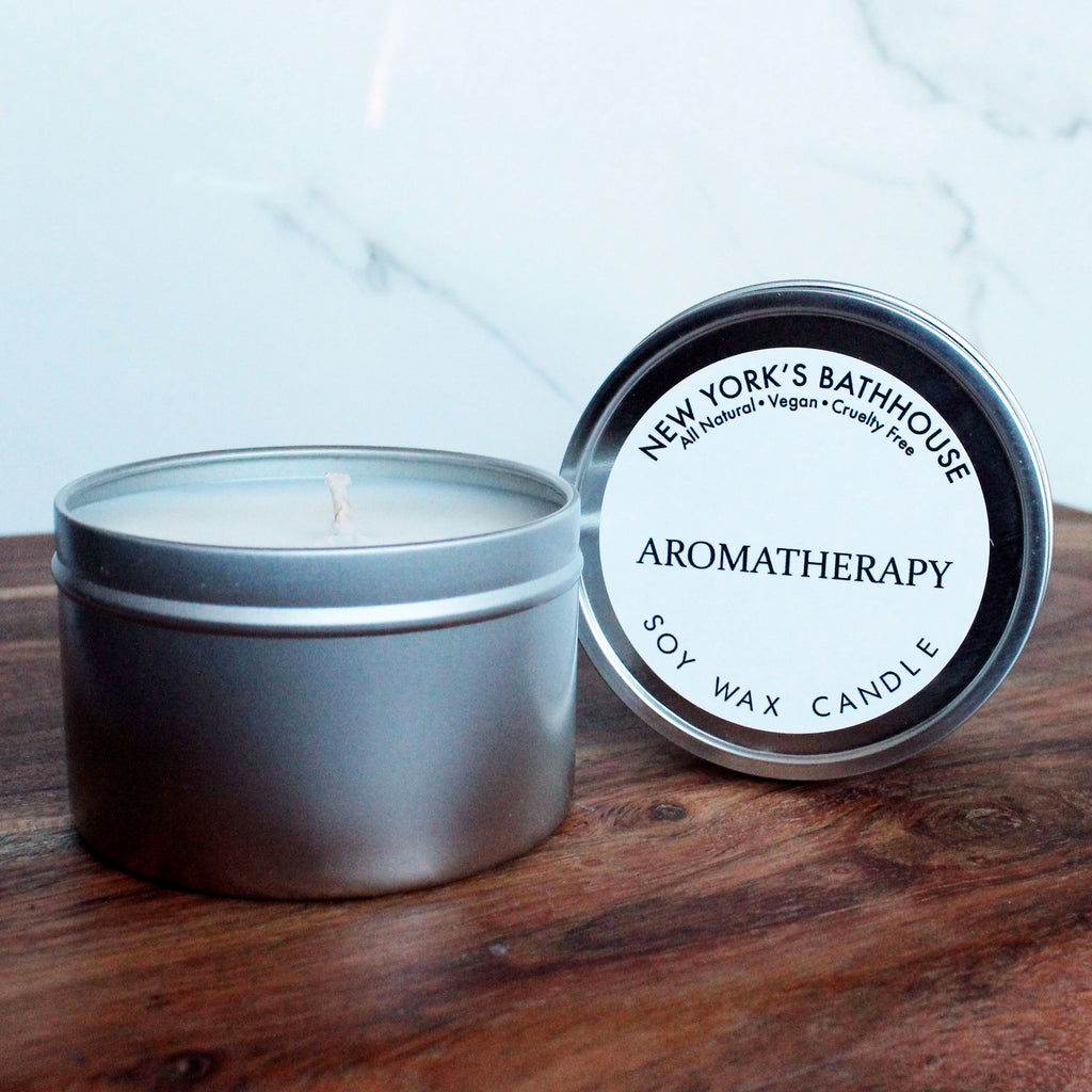 Aromatherapy Soy Wax Tin Candle - New York's Bathhouse
