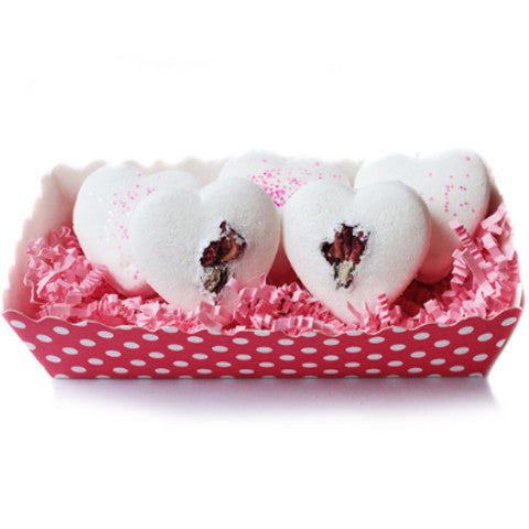 White Chocolate & Roses Truffles Bath Bombs - New York's Bathhouse