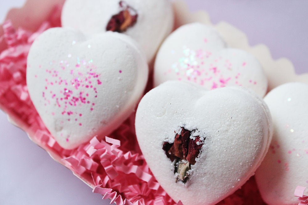 White Chocolate & Roses Truffles Bath Bombs