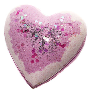 Blackened Amethyst Heart Bath Bomb - New York's Bathhouse