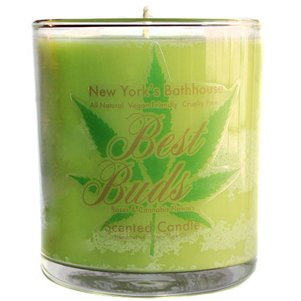 Best Buds Roses & Cannabis Flower Scented Candle - New York's Bathhouse
