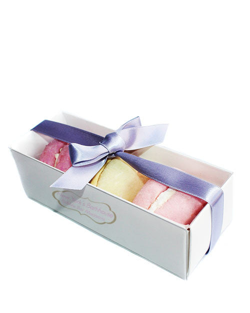 Assorted Macarons Solid Bubble Bar Gift Box - New York's Bathhouse