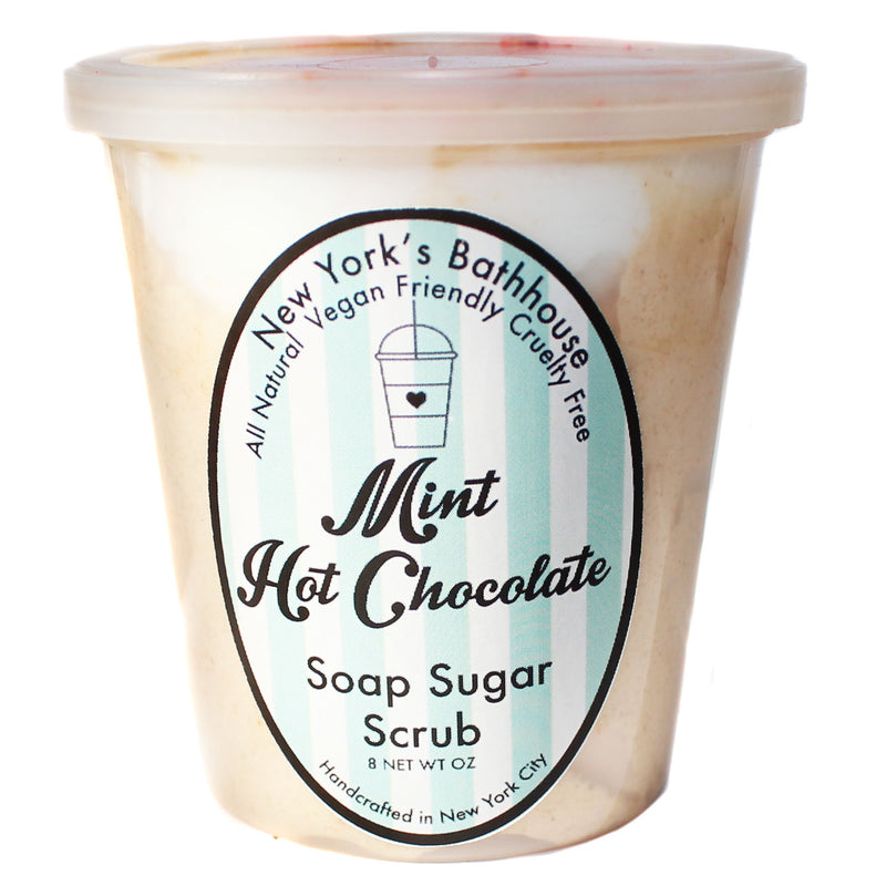 Mint Hot Chocolate Whipped Soap Sugar Scrub - New York's Bathhouse
