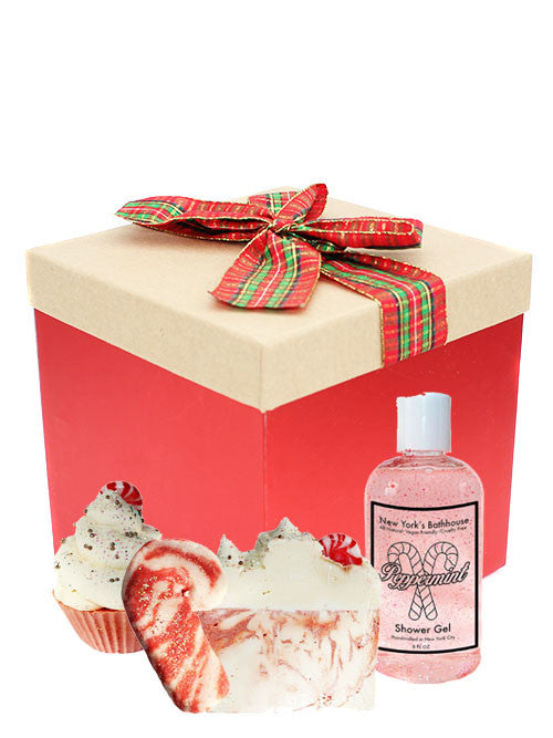 Candy Cane Seasonal Gift Box - New York's Bathhouse