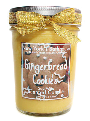 Gingerbread Cookies Mason Jar Soy Wax Candle - New York's Bathhouse
