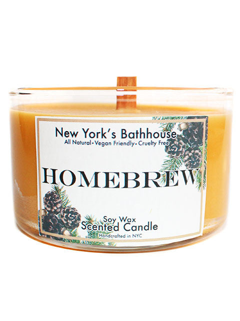 Homebrew Soy Wax Scented Candle - New York's Bathhouse