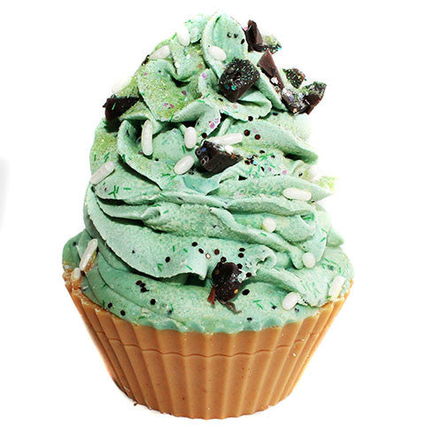 Mint Chocolate Chip Cupcake Soap