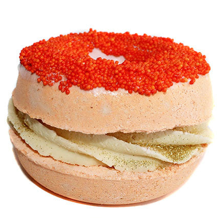 Caramel Pumpkin Spice Donut Sandwich Bath Bomb - New York's Bathhouse