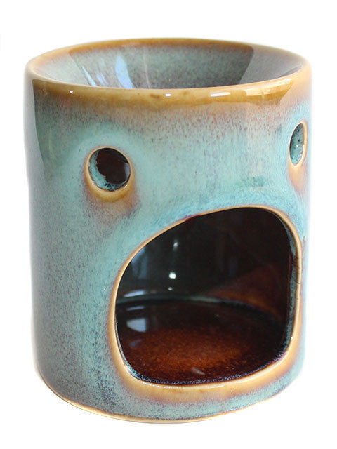 Teal Rustic Ceramic Tart Warmer - New York's Bathhouse