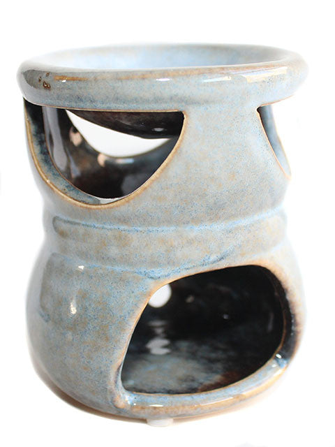 Sky Blue Rustic Ceramic Tart Warmer - New York's Bathhouse
