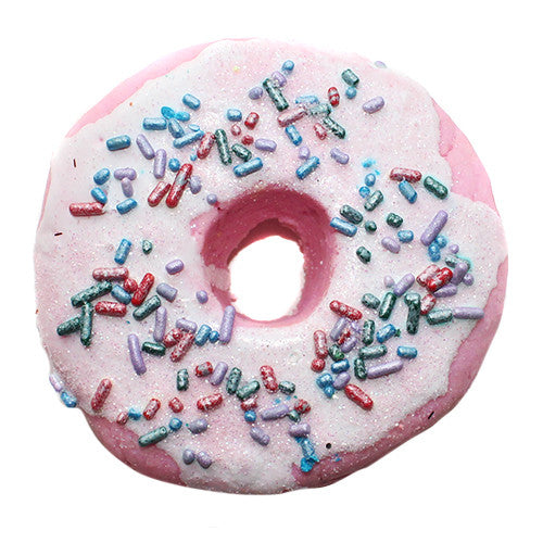 Raspberry Zinger Iced Donut Bubble Bar - New York's Bathhouse