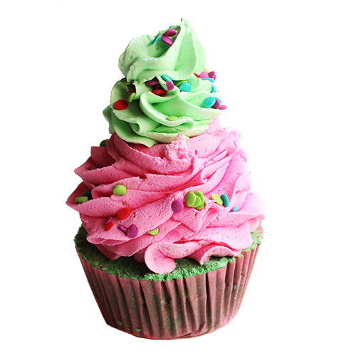 Sour Watermelon Candy Cupcake Bath Bomb - New York's Bathhouse