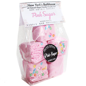 Pink Sugar Marshmallow Bubble Bars - New York's Bathhouse