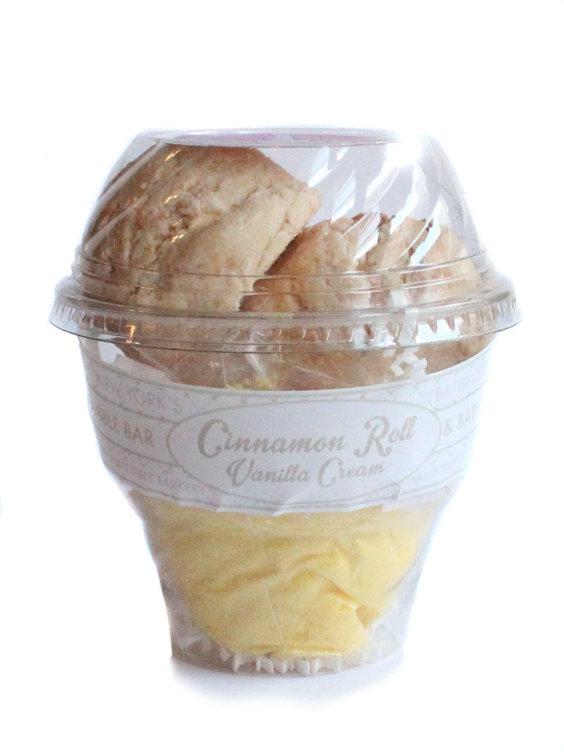 Cinnamon Roll Vanilla Cream Bath Soak Milkshake - New York's Bathhouse