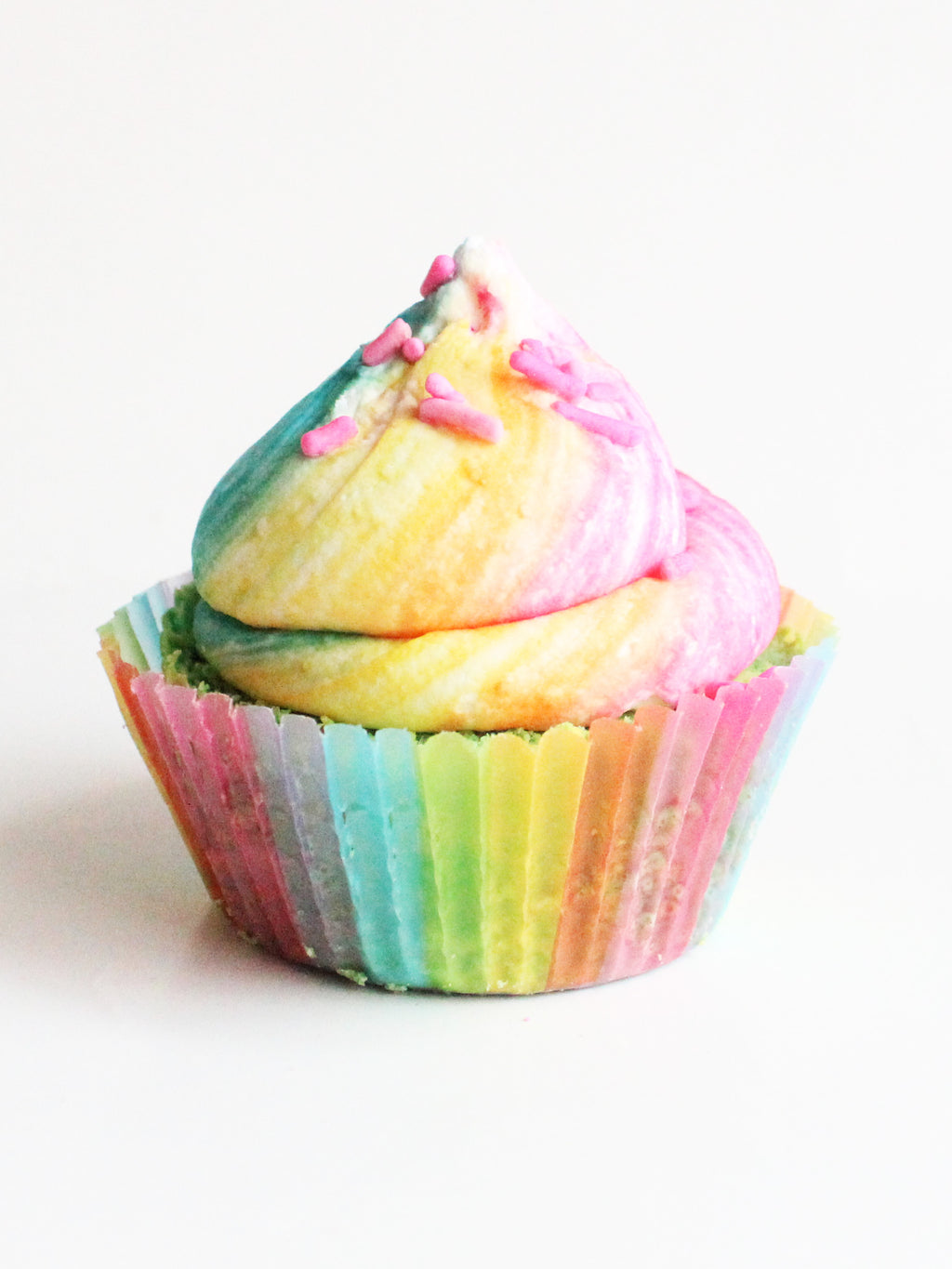 Over The Rainbow Cupcake Bath Bomb - New York's Bathhouse
