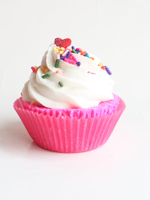 Birthday Cake Butter Cream Cupcake Bath Bomb - New York's Bathhouse