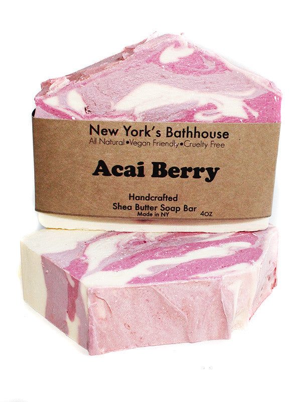 Acai Berry Shea Butter Soap Bar - New York's Bathhouse