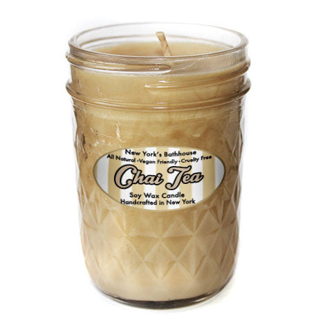 Chai Tea Mason Jar Candle - New York's Bathhouse