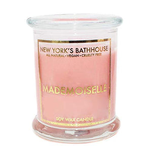 Soy Wax Candle - Mademoiselle Perfume Dupe - New York's Bathhouse