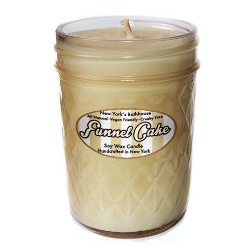 Funnel Cake Mason Jar Candle - New York's Bathhouse