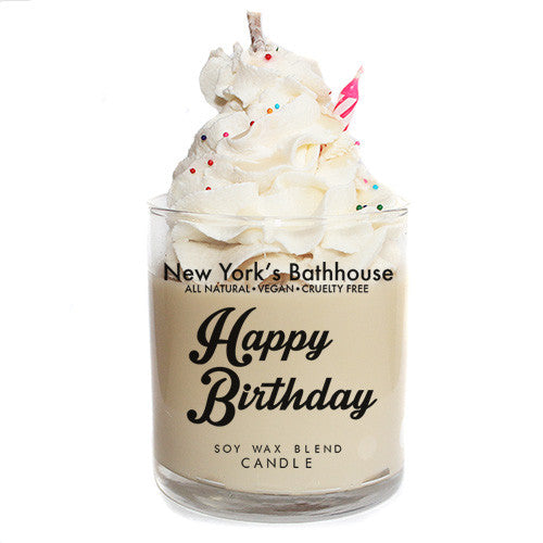 Happy Birthday Cake Candle - New York's Bathhouse