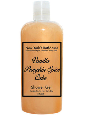 Vanilla Pumpkin Spice Cake Shower Gel - New York's Bathhouse