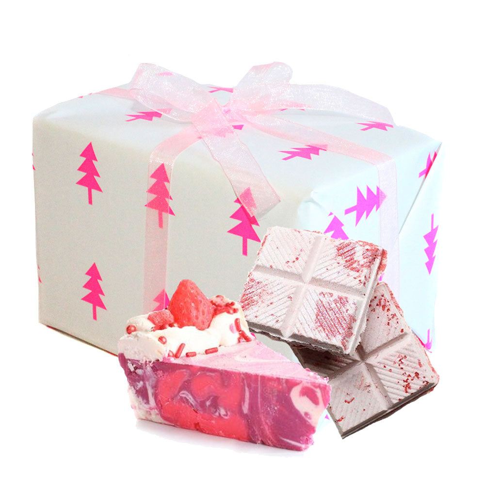Stocking Stuffer Pink Christmas Gift Box - New York's Bathhouse