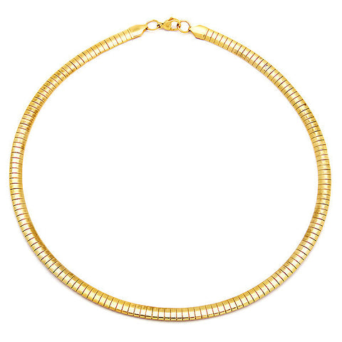 Steeltime Ladies 18K Gold Plated Omega Necklace
