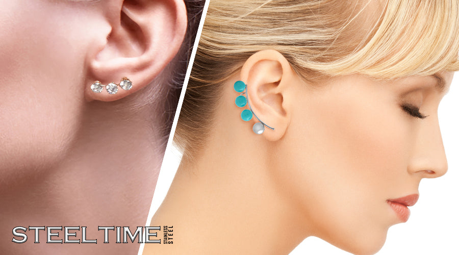 Steeltime Climber Earring Collection