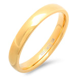 Unisex Stainless Steel Slim Wedding Band Ring in 18  KT Gold Plate