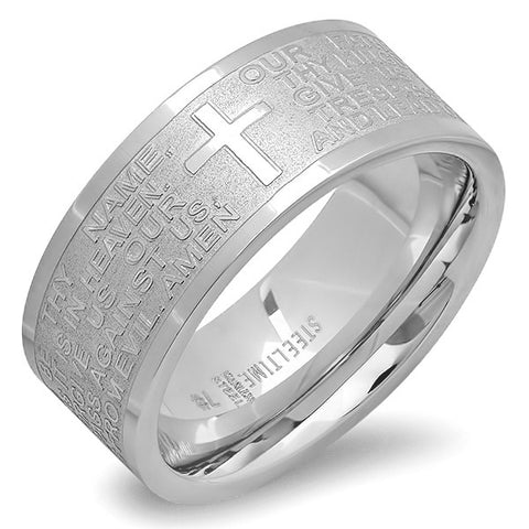 Unisex Stainless Steel Prayer Ring