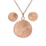 Women's Stud Earrings & Pendant set in 18 CT Rose Gold Plated