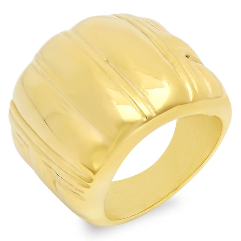 18kt Gold Plated Stainless Steel Ring