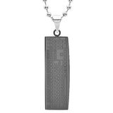 MEN'S STAINLESS STEEL KEYBOARD PENDANT DOES NOT COME WITH CHAIN