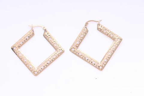 STAINLESS STEEL GOLD EARRINGS